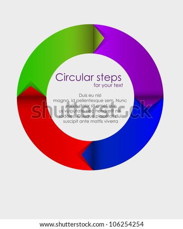 Vector colorful arrows circle