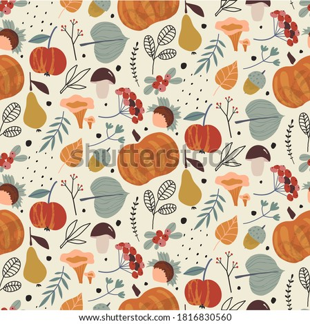vector colorful autumn natural