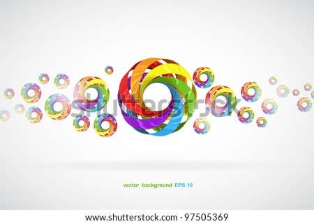 vector colorful background with circular elements