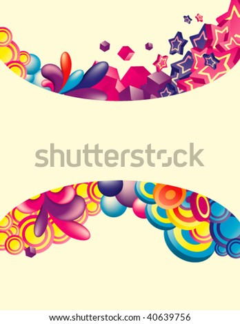 Vector. Colorful background with space for message. All elements are separated and can be used to make new composition.