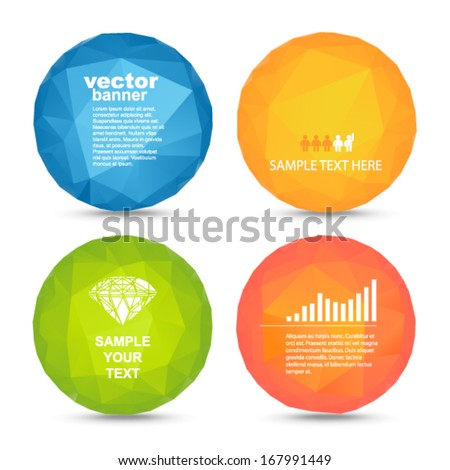Vector - colorful balls banners