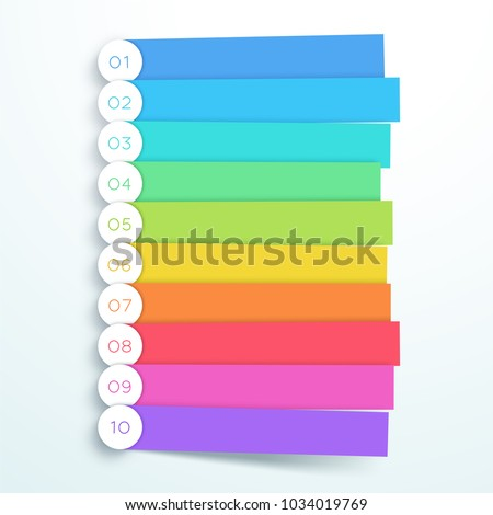 Vector Colorful Banner Steps Infographic List 1 to 10