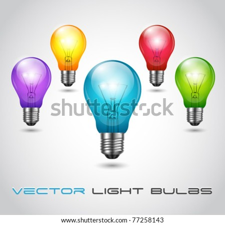 Vector Colorful Bulbs