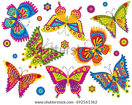 Colorful Butterflies Download Free Vector Art Stock Graphics Images