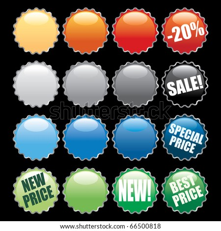 vector colorful buttons like