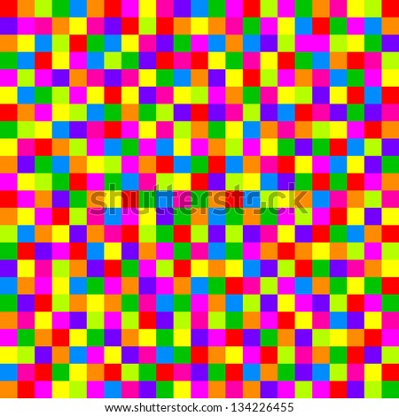 Vector colorful checkered pattern