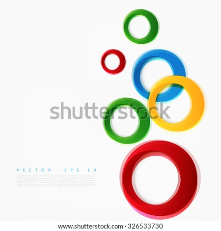 vector colorful circle