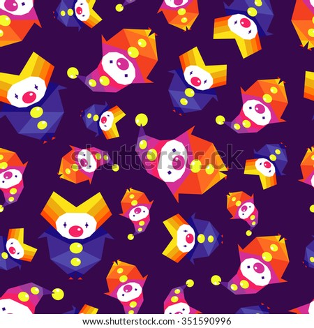 vector colorful circus pattern