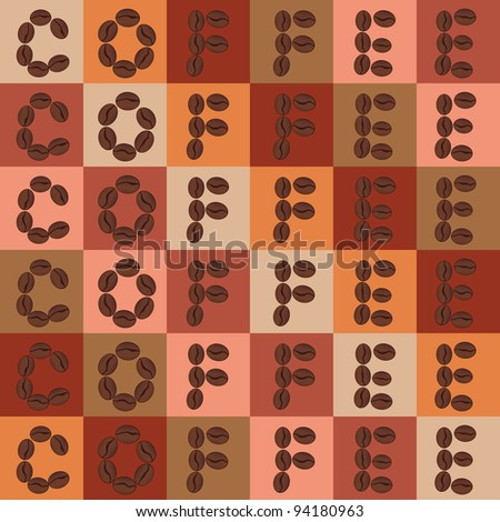 vector colorful coffee beans seamless pattern