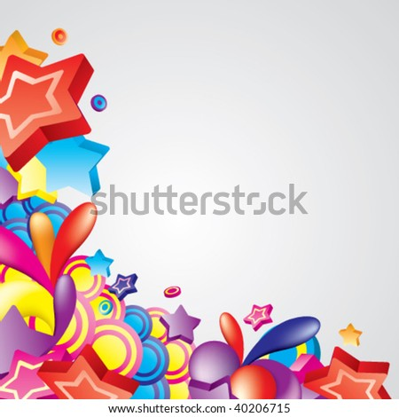 Vector. Colorful corner for your design. All elements are separated and can be used to create your own composition.