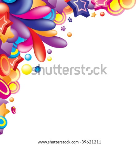 Colourful Borders Designs Abstract colorful frame design vector