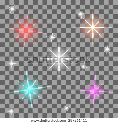 Vector colorful flares for your design