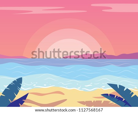 vector colorful flat style