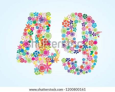 vector colorful floral 49