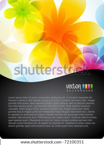 vector colorful flower template design