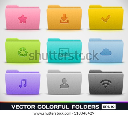 Vector Colorful Folders