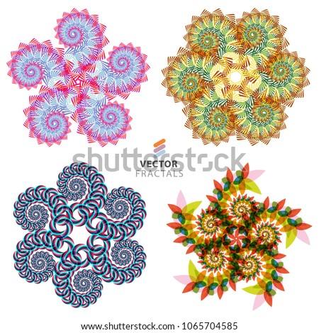 vector colorful fractal