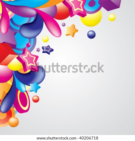 Vector. Colorful frame for your design. All elements are separated.