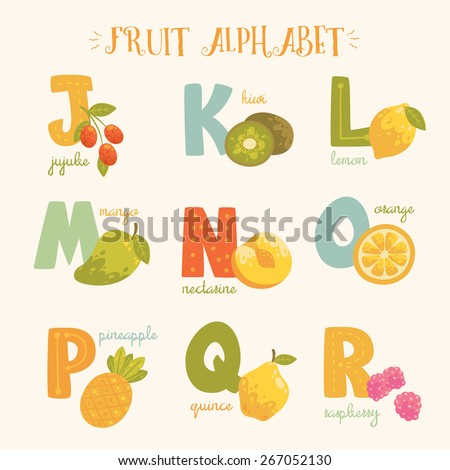 Fruit With Letter R