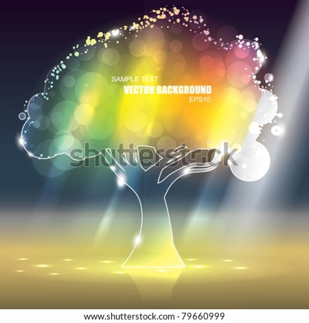 vector colorful glass tree