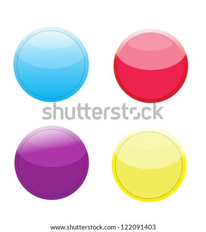 Vector colorful glossy tags