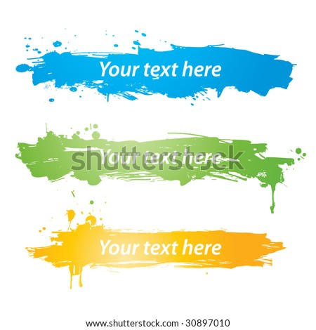 Vector colorful grunge banners