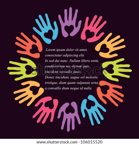 Vector Images, Illustrations and Cliparts: vector colorful hands ...