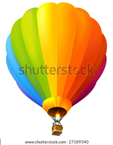 vector colorful hot air balloon