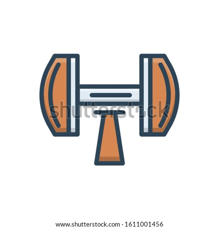 Vector colorful icon for dumb bells
