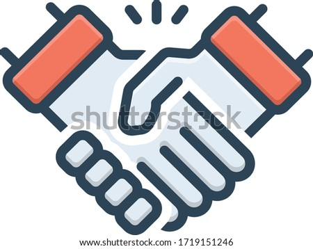 Vector colorful icon for handshake Stock photo ©