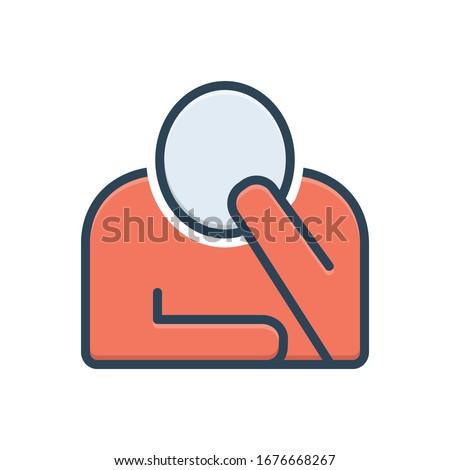 Vector colorful illustration icon for perturbation Photo stock ©