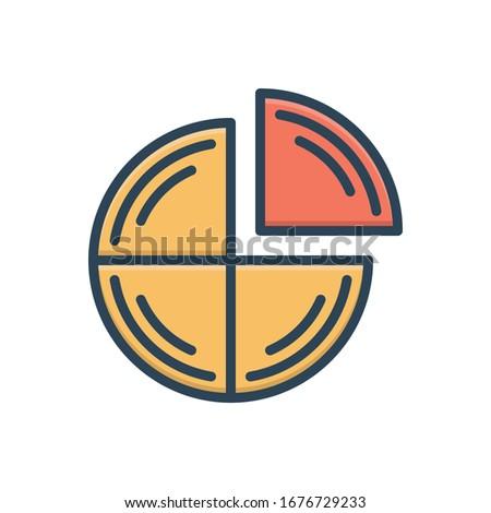 Vector colorful illustration icon for quarter Foto stock ©