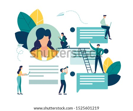 Vector colorful illustration of communication via the Internet, social networking,chat, video,news,messages,web site, search friends, mobile web graphics vector