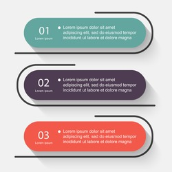 Vector colorful info graphics for your business presentations. Can be used  website layout, numbered banners, diagram, horizontal cutout lines, web design.