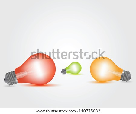 Vector Colorful Light Bulbs set