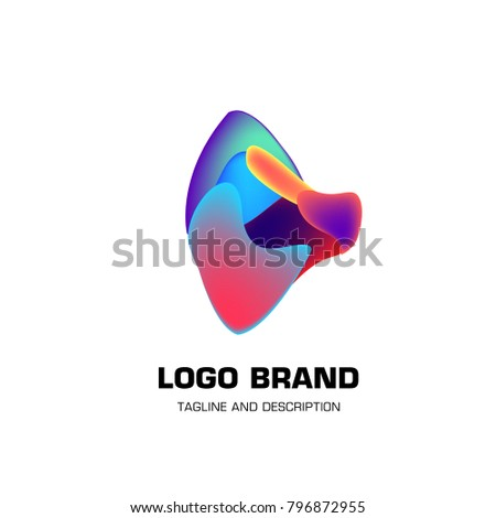 Vector colorful liquid abstract logo design