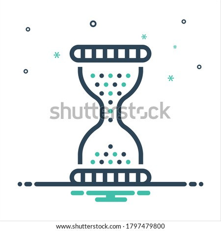 Vector colorful mix icon for era ,age, epoch ,period ,eon ,phase, days ,sand clock ,timer