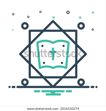 Vector colorful mix icon for theology Stock photo ©