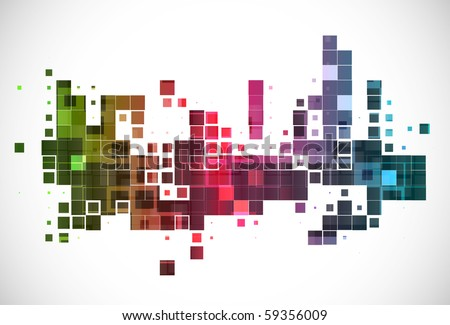 vector colorful mosaic pattern design, vector illustration. - stock vector