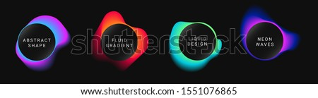 Vector colorful neon templates. Circle shapes with vivid gradients. Fluid gradients for banners, posters, covers, invitations.
