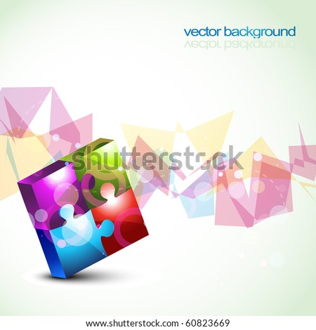 vector colorful puzzle shapes eps10 background