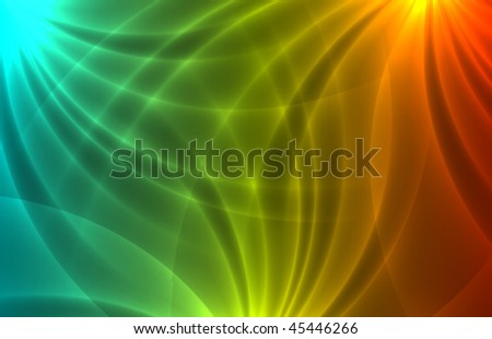 Vector colorful rays