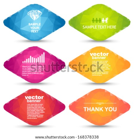 Vector - colorful rhombus banners