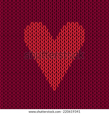 Vector Colorful Seamless Knitting Wool Pattern With Heart ...