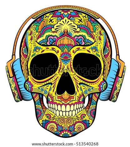 vector colorful skull graphics