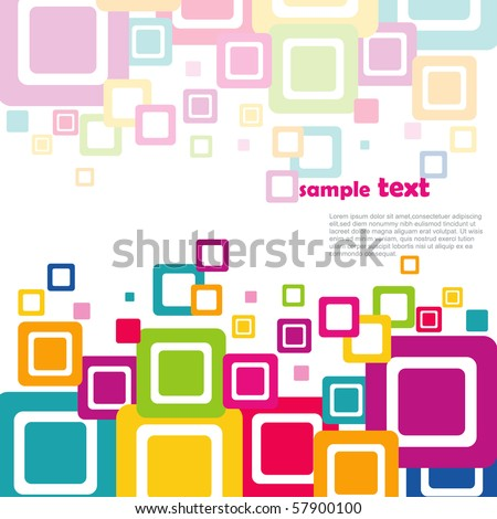 vector colorful squares on white background
