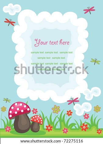 vector colorful summer background with place for text and funny design elements