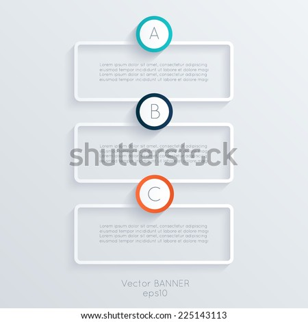 Vector colorful text box trendy colors Vector illustration can be used for workflow layout diagram number options web design