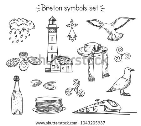 vector coloring book breton