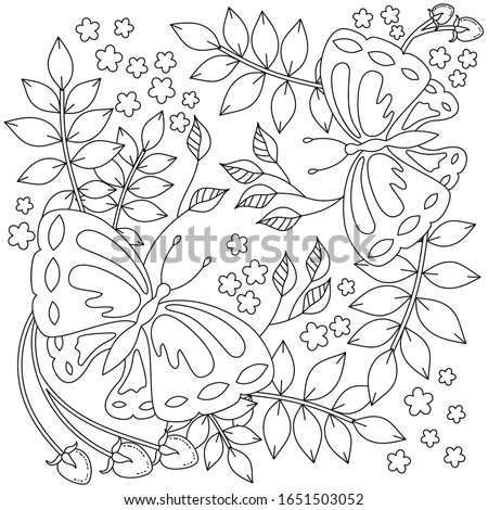 vector coloring book page for